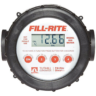Fill-Rite / Tuthill 820 20 GPM Digital Flow Meter with LCD Display