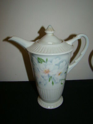 Syracuse Wild Roses Coffee Pot & Lid Excellent