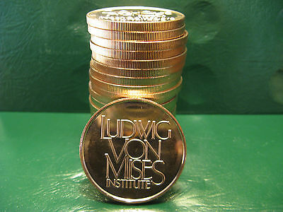 """""""Ludwig Von Mises Institute"""" 1 oz .999 Copper 20 beautiful rounds 1 Roll in tube"""