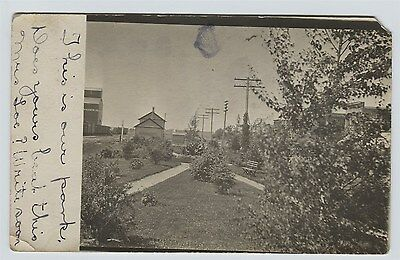 1914 Raymond  Minnesota Railroad Depot  Real Photo Postcard RPPC