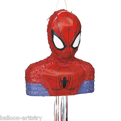 "16"" Marvel's Spider-man Superhero Character Shape Pull String Pinata Party Game"