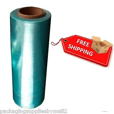 "(1) Roll Hand Stretch Plastic Wrap Green Tint Hi-Perf Film 12"" 1500' 47 Ga -OSTK"
