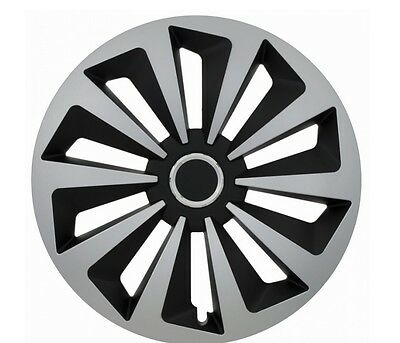"""Set Of 4 15"""" Wheel Trims To Fit Vw Golf 4  Golf 5, Golf 6, Polo + Free Gift #h"""