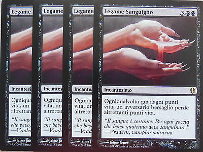 XXX 4x SANGUINE BOND legame sanguigno italienisch commander 2013 (black) NM/MINT