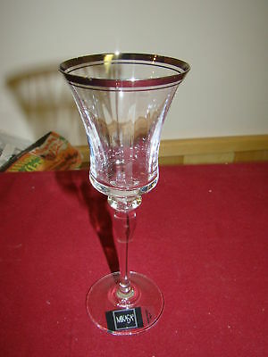 "Mikasa Jamestown Clear Wine Glass 8 5/8"" Excellent"