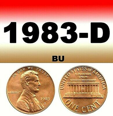 1983-D Lincoln Bright UnCirculated Clear Penny. 1 Cent..===BU==================