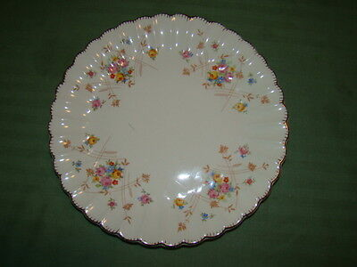 AMERICAN LIMOGES NEW PRINCESS GOLD TRIM LOT OF 2  DINNER PLATES