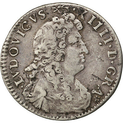 "Monnaies, France, Louis XIV, 4 Sols dits ""des traitants"" 1677 A (Paris) #41254"