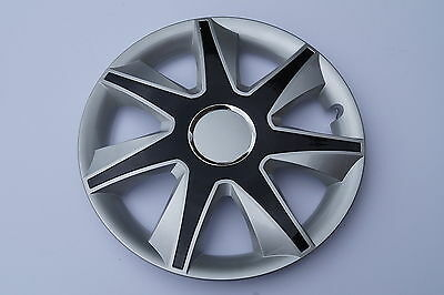 """Set Of 4 15"""" Wheel Trims To Fit Vw Golf V, Golf Vi, Polo + Free Gift #a"""