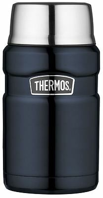 Thermos Stainless Steel King Food Drinks Flask Blue - 710Ml