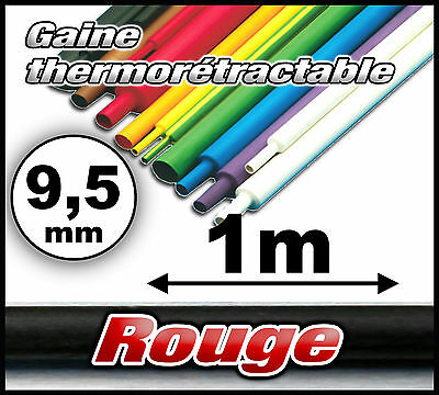 GR9.5-1# gaine thermorétractable rouge 9,5mm 1m ratio 2/1 gaine thermo
