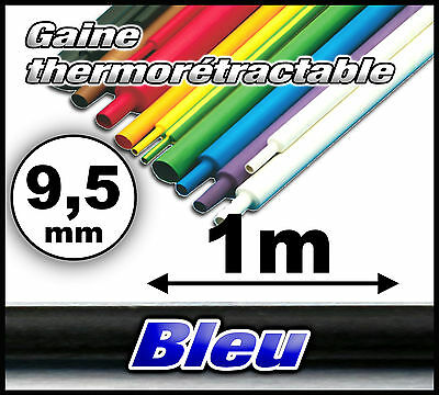 GB9.5-1# gaine thermorétractable bleu 9,5mm 1m ratio 2/1 gaine thermo