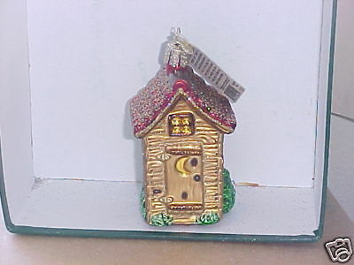 Outhouse Old World Christmas glass ornament .