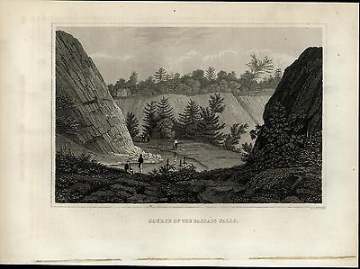 Source Passaic Falls View Paterson Park nice 1834 early American engraved print