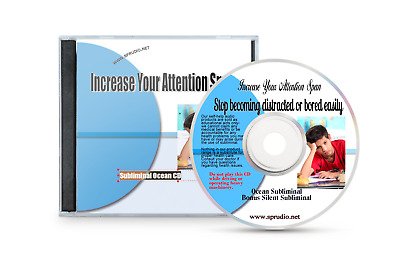 Increase Your Attention Span, Stay  Focus Subliminal Audio CD Ocean Waves