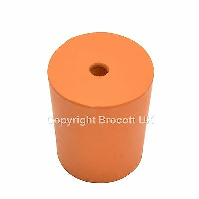 Rubber Stopper With Hole, Rubber Bung With Hole -Size 21 (21Mm > 24Mm) - 10 Pack