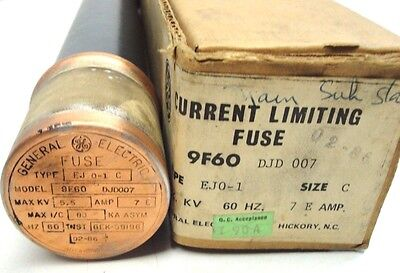 General Electric 9F60DJD007  Fuse TYPE EJO-1  SIZE C  5.5kV  7E-AMPS NEW IN BOX