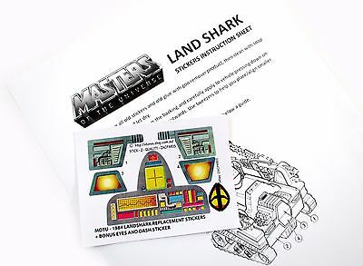 MOTU Masters of the Universe replacement stickers for LAND SHARK + BIG BONUS