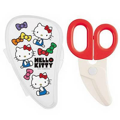 Sanrio HelloKitty Baby Plastic Food Cutter Scissors Noodles Meat with Case NEW