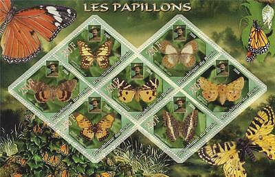 Butterfly Insect Lord Baden-Powell Republique Du Benin 2006 Mnh Stamp Sheetlet