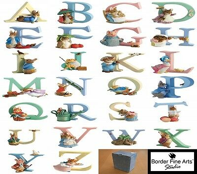 Beatrix Potter Alphabet Letters A to Z Figurines - Nursery Gifts - Cake Toppers