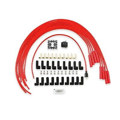 Accel 5040R Red 8mm Silicone Spark Plug Wire Set with Spiral Core