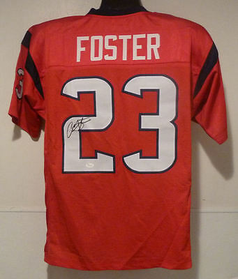ARIAN FOSTER AUTOGRAPHED RED SIZE XL JERSEY w/JSA HOUSTON TEXANS