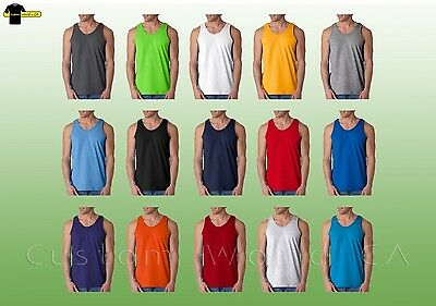 Gildan Mens Ultra Cotton Tank Top 2200   S-2XL  Workout Fitness Shirt Gym Tank