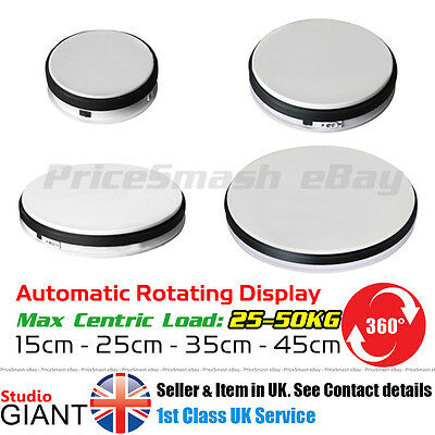 3D White Photo Display Rotating Turntable 360 Degree Cake Photography Stand Base