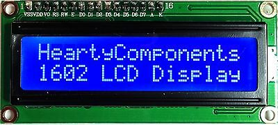 Backlit 3.3V 1602 LCD Display Blue 16x2 for Arduino/Adventures in Raspberry Pi