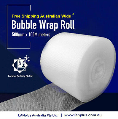 Brand NEW 500mm x 100M meters Bubble Wrap Roll 10mm Bubbles Australian Made