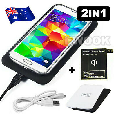 Qi Wireless Charger Charging Pad + Receiver Kit for Samsung Galaxy S5 G900