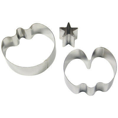 PME 3pk MEDIUM SWEET PEA & STAR CALYX Cut Out Stainless Steel Icing Cutters Cake