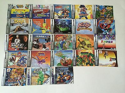 21 Game Boy Advance Instruction Booklets
