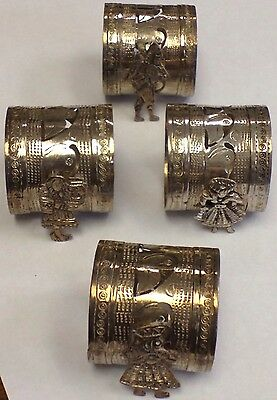 Antique Sterling Silver Napkin Ring Holder Ladies Men Bird Unique Design .925