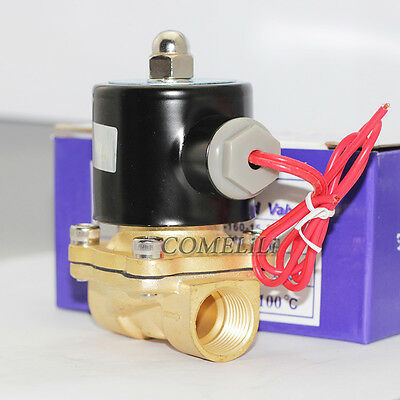 """AC 240V 1/2"""" Electric Solenoid Valve Water Normally Closed Brass Coil N/C"""