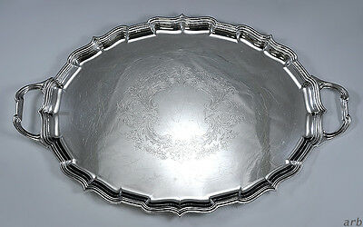 Fantastic Silver Plated Tray Mappin & Webb England Floral Design c.1920-1930