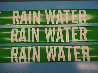 "Vinyl Pipe Marker 7075-1HV 3 Count 4/"" x 24/"" Sticker /""DEIONIZED WATER SUPPLY/"""