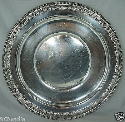 """ANTIQUE ROUND SILVER PLATE SERVING TRAY/ PLATTER,REED & BARTON,16 1/2"""""""