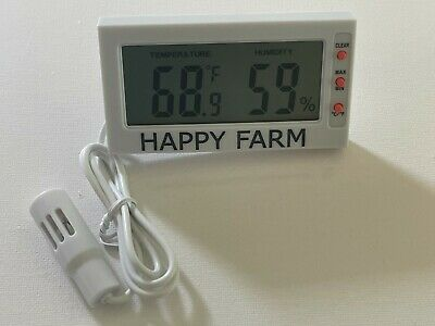 Digital Egg Incubator Thermometer Hygrometer  With Probe