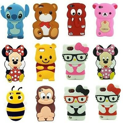 Animals Cute 3D Cartoon Silicon Soft Cover Case For iPod Touch 5 5G 5TH GEN