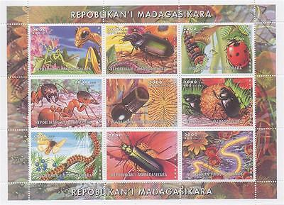 Insect Bug Ladybird Cockroach Caterpillar Ant Beetle 2000 Mnh Stamp Sheetlet