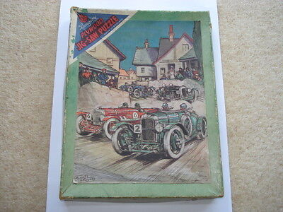C1920S Vintage Bentley Racing Cars Langley Wooden Jigsaw Puzzle
