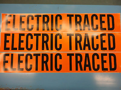 "3 Count, ""ELECTRIC TRACED"", 4"" x 24"" Decal Sticker, Vinyl Pipe Marker 7097-1HV"
