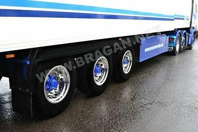 Volvo DAF Scania Man Iveco Truck Trailer S/S Wheel Trims Covers Sleeve x 6 Alloy