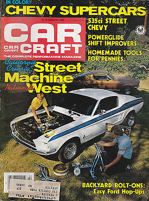 Car Craft Magazine Street Machines Chevy Supercars February 1980  FREE US S/H