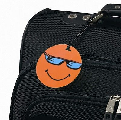 Smooth Trip Smiley Face Luggage Tag Orange ST-LT6005-OR *FREE SHIPPING!*