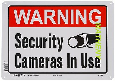 Warning Security Cameras In Use ~ Home Video Surveillance Aluminum Sign ~ Metal