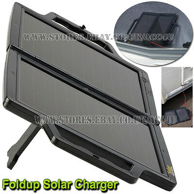 12v 4WP Portable Foldup Solar Panel Power Car Motorhome Battery Trickle Charger