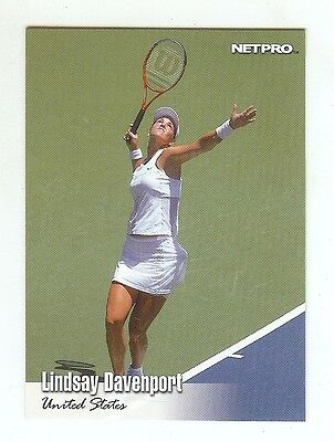 "(35) LINDAY DAVENPORT ""Hall of Fame"" 2003 NetPro Card #16 Tennis LOT"